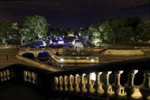 Mise en lumière Jardins de la Fontaine