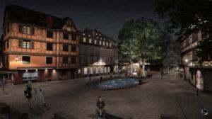 Mise en lumière de la place St Etienne