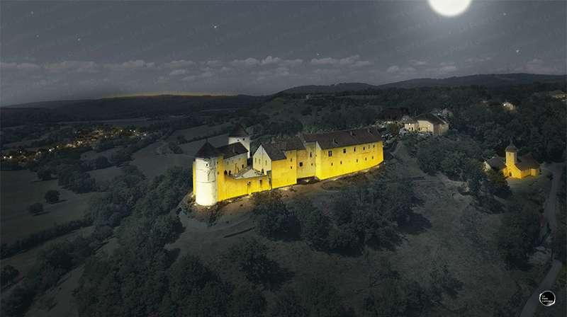 Mise en lumière du chateau de belvoir