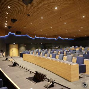 Mise en lumière de la salle de conférence