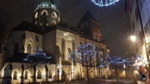 Mise en lumière de l'église Saint Thomas à Strasbourg